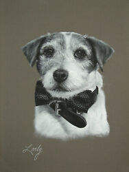 Original Art Jack Russell Terrier Drawing by Artist Daniel Lovely