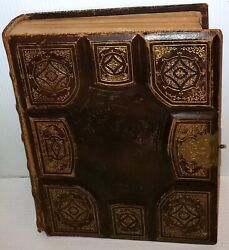 Vintage Holy Bible Holmanand039s Edition 1872 Gold Edge Rare Old And New Testaments