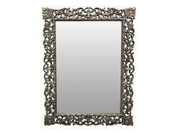 Andnbspfrench Style Shabby Chic Wood Silver Leafhand Carved Wall Mirrorandnbspandnbsp