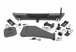 Rough Country Rear Trail Bumper w Tire Carrier for 18-19 Wrangler JL; 10598