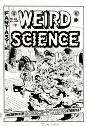 WOOD WALLY - WEIRD SCIENCE #22 ORIGINAL COVER ART (LARGE) 1953