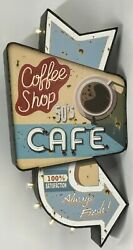 Retro Americana Cafe And Beer Led Signs, 2 Designs, Distressed Metal,