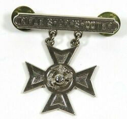 Wwii Rifle Sharpshooter Usmc Marine Corp Badge Sterling Pin Lt Colonel Turner