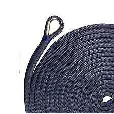 Us Ropes Nylon Double Braided Anchor Line 3/8 X 100and039 Navy