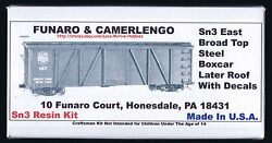 Lmh Funaro Fandc 219 Sn3 East Broad Top Steel Boxcar Ebt Later Roof White Decals