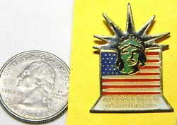 Statue Of Liberty Head Us Flag Aid Assoc For Lutherans Lapel Pin T02