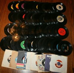 115 Vinyl 45 Record Lot Collection Rock Different Kinds See Artist List Promo