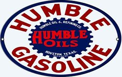 Humble Gasoline Oval Motor Oil Sign
