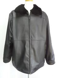 Brand New Black Sheared Beaver Fur And Leather Reversible Jacket Men Man Size All