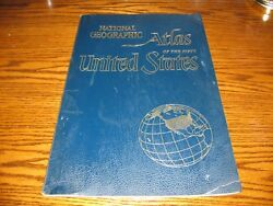 Vintage 1960 Giant National Geographic Atlas Of The 50 United States Nice