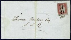 2915 PITT STREET SCOTS LOCAL CANCELLATION  1d STAR FOLDED LETTER 1855 GB UK