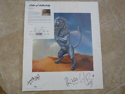 Rolling Stones Bridges To Babylon Signed Lithograph Poster X 3 Psa Certified