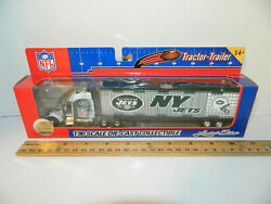New York Jets Nfl Tractor Trailer Die-cast Truck Green 180 Scale 2005 With Box