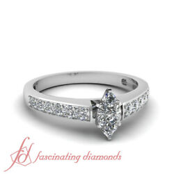 .75 Ct Marquise Cutvery Good Diamond 14k Gold Engagement Ring Gia Certified