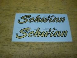 Schwinn Approved Black And Gold Later Bicycle Horn Tank Decals 1958 Deluxe Hornet