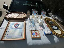 Old Style Beer Glass Lot Mugs Tapper Mirror Signs Bank 40's Grenadier Pitcher