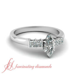 .90 Ct Marquise Cutvery Good Diamond Engagement Rings Women 14k Si1-h Color Gia