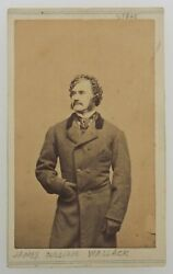 James William Wallack Carte De Visite Circa 1850and039s Rare Cdv Actor/manager