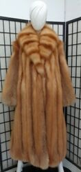 Brand New Canadian Red Fox Fur Coat Jacket Women Woman Size All