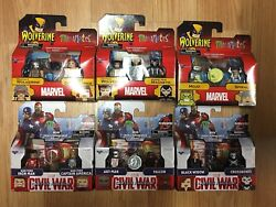 Lot 6 Marvel Minimates Tactical Wolverine And Marvel Now Magneto Tru X-men New