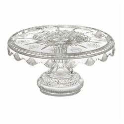 Waterford Twelve 12 Days Of Christmas Cake Plate And Serving Knife Crystal Platter
