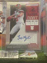 Baker Mayfield Contenders Playoff Ticket Auto 96/99