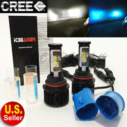 9007-HB5 CREE LED COB 6K White 10K Blue Conversion Kit Headlight #Ra4 Hi/Lo Beam