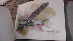 United Airlines Collector Nixon Galloway Print Litho Ford Trimotor 1929-'33 Jets