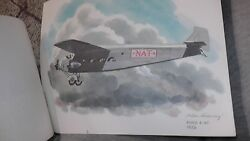 United Airlines Collector Nixon Galloway Print Litho Ford 4-at 1926 Nat Airplane