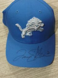 David Akers Autographed Signed Nfl New Era Blue Lions Official Game Hat Size S/m