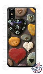 Colorful Stone Rocks Design Hearts Phone Case Cover For Iphone Samsung Lg Etc