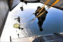 Poster, Many Sizes Static Line Water Drop Out Of A C-2a Greyhound Parachute