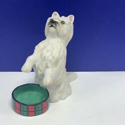 FRANKLIN MINT PUPPY DOG FIGURINE sculpture vintage West Highland White Terrier 2