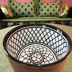 Moroccan Pottery Alimentry Bowl Handmade For Kitchen Dish Dining Rice Salad Soup