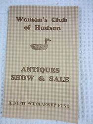 1977 Woman's Club Of Hudson Ohio Antiques Show And Sale Program
