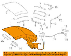 MERCEDES OEM 13-16 SL550 RETRACTABLE-Top Assembly 23179024401794