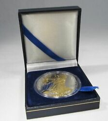 2006 American Silver Eagle 1oz Silver Coin With 24k Gold Gilded Proof