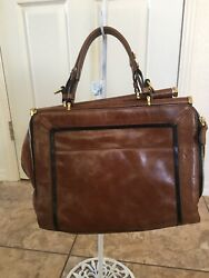 Anthropologie Oryany Large Brown Leather Purse Tote Bag—nwt