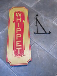 Red Whippet Wood Sign Willys Overland Company Cabin Man Cave Auto Garage Yellow