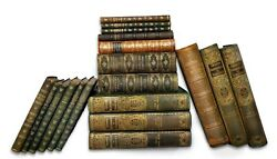 Antique Leather Books By The Foot - Approx 10 Books