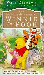 The Many Adventures Of Winnie The Pooh Vhs, 1996