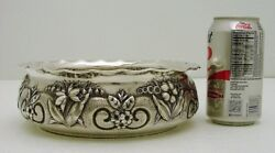 Gorham Sterling Silver Hand Hammered Bowl Floral Repose 2434 Date-marked 1887