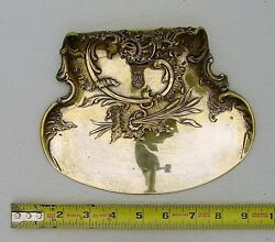Rococo Austrian Solid Silver Crumb Pan Gold Wash And Crowned Crest Wandc