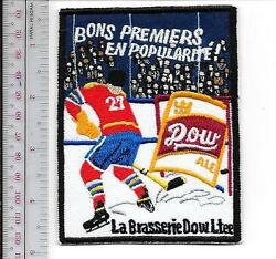 Beer Hockey Dow Ale Brewery Montreal Quebec City National Hockey League 1957 Pro