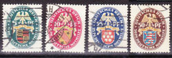 Germany Deutsches Reich 1926 Mi. Nr. 398-401 State Banners Nothilfe Issues Used