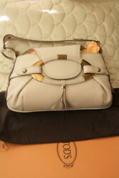 Todand039s Boomerang Ew Satchel Bag Purse Lam Nib