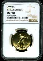 2009 G$20 Ultra High Relief Saint-Gaudens MS70 PL Proof-Like NGC 4693075-009
