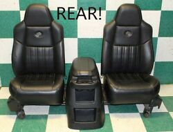 99-04 F250 Black Leather REAR Backseat Captain's Chairs Center Console Bracket