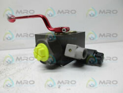Hydac Saf20e12y2t250a Safety And Shut-off Block New No Box