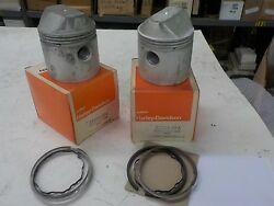 Sportster New Old Stock Set Of .060 Os Pistons 1957-69 22258-58a
